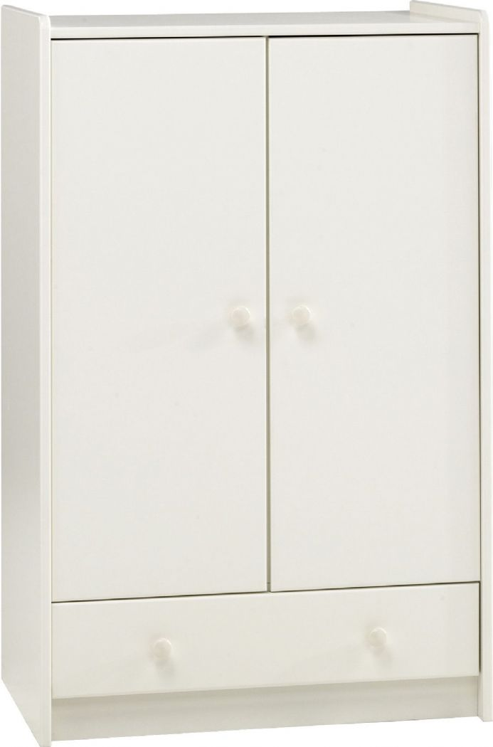 RICHMOND - 2 DR COMBI WARDROBE WHITE